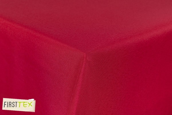 First-Tex Gartentischdecke uni 160x220 cm oval in rot
