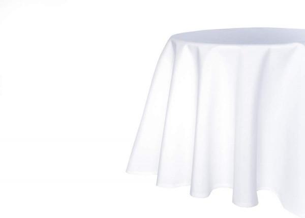 TextilDepot24 Tischdecke mit Fleckschutz Kuvertsaum pflegeleicht wasserabweißend 140 cm rund, Weiß,