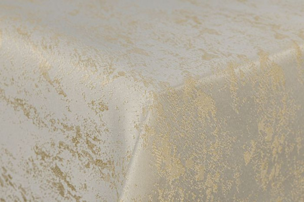 First-Tex Tischdecke Damast Jacquard Brilliant Meliert 180 rund creme/champagner