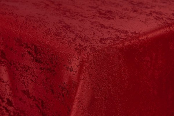 First-Tex Tischdecke Damast Jacquard Brilliant Meliert 110x110 in rot mit gerader Saumkante