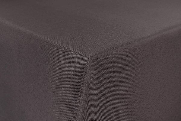 First-Tex Gartentischdecke uni 135x180 cm oval in taupe
