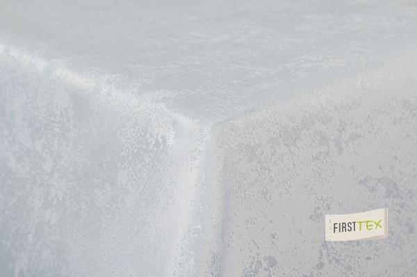 First-Tex Tischdecke Damast Jacquard Brilliant Meliert 110x140 eckig in weiß
