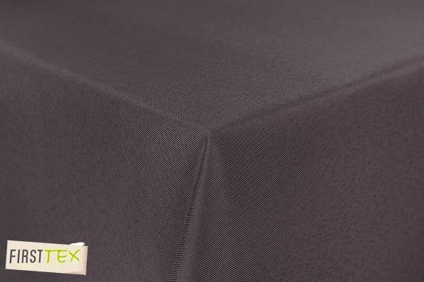First-Tex Gartentischdecke uni 140 cm rund in taupe mit gerader Saumkante
