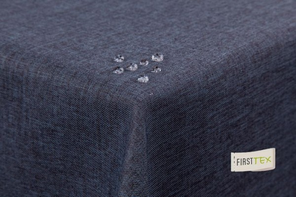Tischdecke Leinenoptik Lotuseffekt mit gerader Saumkante 160x320 eckig in grau