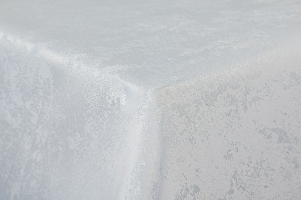 First-Tex Tischdecke Damast Jacquard Brilliant Meliert 135x180 in weiß mit gerader Saumkante