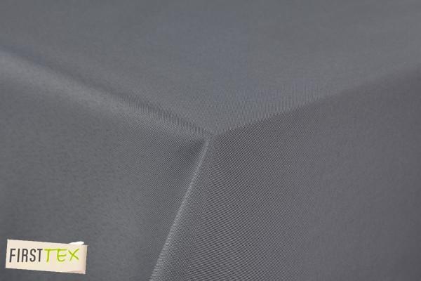 First-Tex Gartentischdecke uni 140 cm rund in grau mit gerader Saumkante