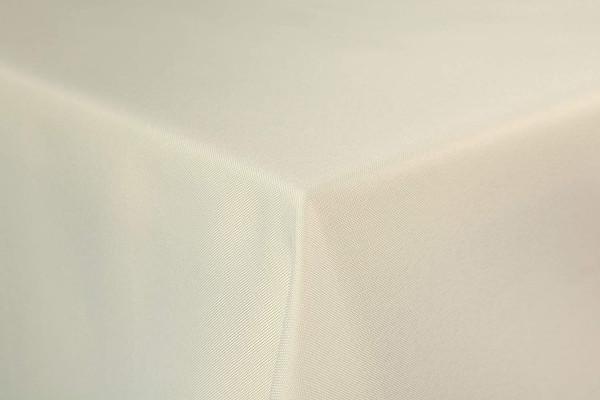 First-Tex Gartentischdecke uni 135x180 cm oval in champagner