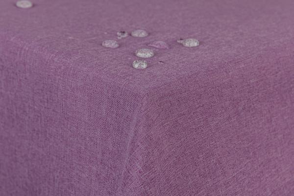First-Tex Tischdecke Leinenoptik Lotuseffekt 160x220 eckig in lila flieder
