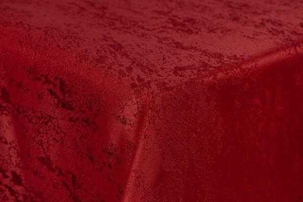 First-Tex Tischdecke Damast Jacquard Brilliant Meliert 140 rund in rot mit gerader Saumkante