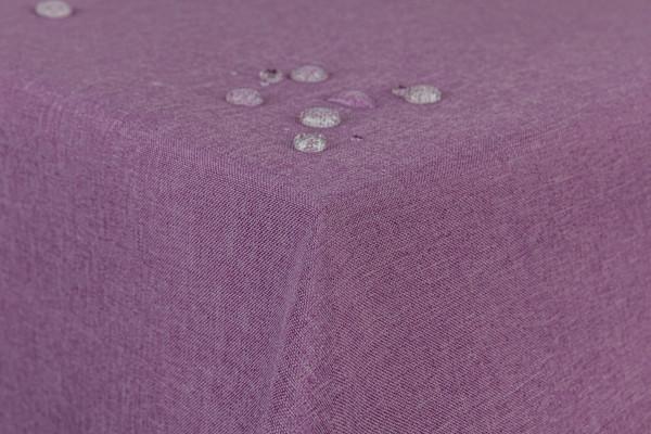 Tischdecke Leinenoptik Lotuseffekt mit gerader Saumkante130x130 eckig in lila