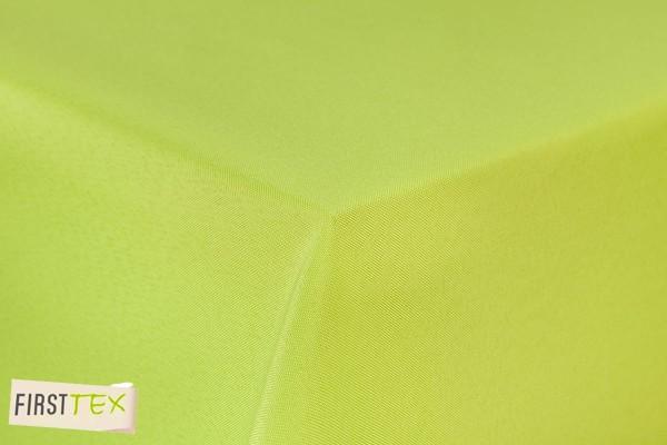 First-Tex Gartentischdecke uni 160 cm rund in hellgrün mit gerader Saumkante