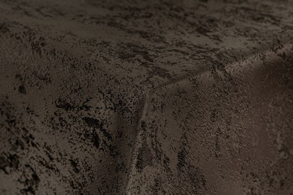 First-Tex Tischdecke Damast Jacquard Brilliant Meliert eckig 110x140 dunkelbraun